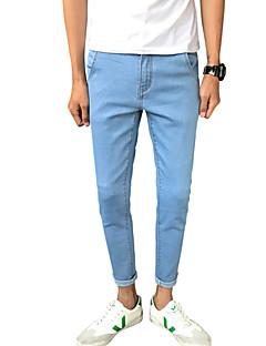 Herren Einfach Mittlere Hüfthöhe Mikro-elastisch Jeans Schlank Hose einfarbig Tiermuster Druck