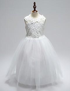 Plesové šaty Po kotníky Šaty pro květinovou družičku - Organza Klenot s Aplikace Mašle Křišťály