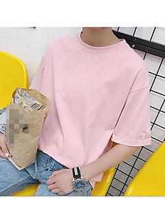 T-shirt Da donna Per uscire Semplice Estate,Tinta unita Rotonda Cotone Manica corta Sottile