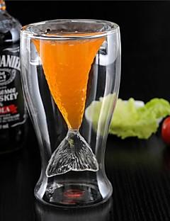 Nyhed krystal havfrue kop glas krus vodka skud drikker dobbelt væg varmebestandig bar fest kop gave