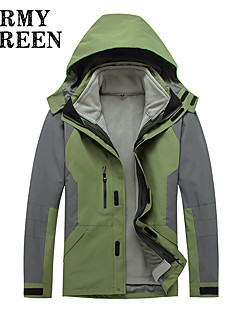 Men's Fashional 3-in-1 Jackets Waterproof Breathable Thermal / Warm Windproof Fleece Lining Winter Jackets