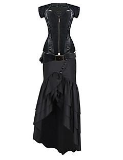 여성 오버버스트 코르셋 잠옷,섹시 푸시 업 Kontor/företag 프린트-여성의 중간 면
