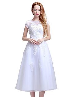 Вечернее платье с надписью a-line jewel длинный кружевной тюль с кружевным бисером