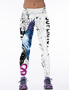 Women's Sporty Look Fashion Tiger Print Breathable Quick Dry Compression Stretch Spring/Summer Sports Tights Pants Fitness Running Leggings