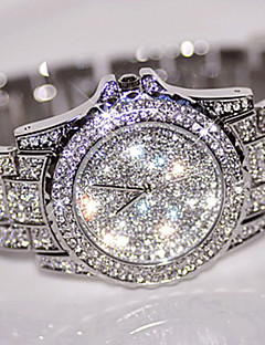 Bayanların Elbise Saat Moda Saat Benzersiz Yaratıcı İzle Sahte Elmas Saat Bilek Saati Çince Quartz / Yapay Elmas Paslanmaz Çelik Bant