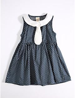 שמלה כותנה קיץ יום יומי\קז'ואל מנוקד הילדה של