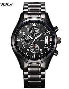 SINOBI Herren Sportuhr Militäruhr Kleideruhr Modeuhr Armbanduhr Simultan? Diamant Uhr Japanisch QuartzKalender Wasserdicht Stopuhr Nachts