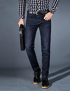 Herren Einfach Mittlere Hüfthöhe strenchy Jeans Gerade Schlank Hose einfarbig