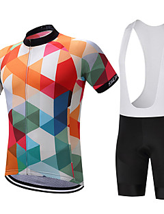SUREA Camisa com Bermuda Bretelle Homens Manga Curta Moto Shorts Camisa Pulôver Camisa/Roupas Para Esporte Tights Bib BlusasSecagem
