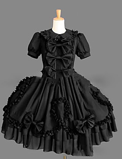 One-Piece/Dress Sweet Lolita Lolita Cosplay Lolita Dress Vintage Cap Short Sleeve Short / Mini Dress For