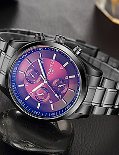 בגדי ריקוד גברים שעוני אופנה שעון יד ייחודי Creative צפה שעונים יום יומיים קווארץ מתכת אל חלד להקה מגניב יום יומי יצירתי יוקרתי אלגנטי