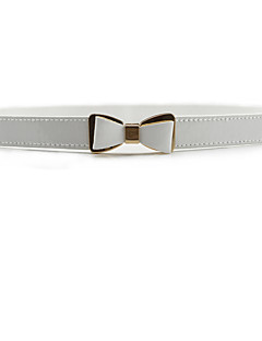 レディース セクシー ファッション リボン クラシック・タイムレス ドレスベルト 合金 樹脂 クロス 純色 スキニー