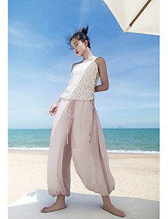 Femme Chinoiserie Taille Normale strenchy Ample Pantalon,Boot Cut Couleur Pleine