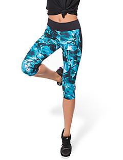 Mulheres Corrida Roupas de Compressão 3/4 calças justas Leggings Calças Respirável Secagem Rápida Compressão Materiais Leves Elástico