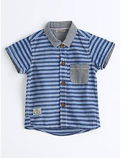 男の子 ストライプ コットン シャツ 夏 半袖