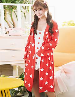 Kvinners kjole søte stjerneklar himmel mønster enkel fritid mykt sovøy