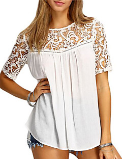 Women's Going out Casual/Daily Vintage Simple Spring Summer T-shirt,Print Round Neck Short Sleeve Polyester Medium