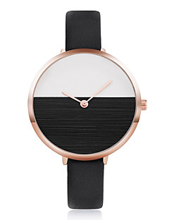 Damen Modeuhr Armbanduhren für den Alltag Armbanduhr Chinesisch Quartz PU Band Elegante Cool Bequem Schwarz Weiß Blau