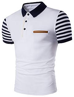 Erkek Pamuklu Polyester Kısa Kollu Gömlek Yaka Zıt Renkli Seksi Sade Sokak Şıklığı Parti Dışarı Çıkma Günlük/Sade-Erkek Polo