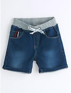 Drenge Jeans Ensfarvet Trykt mønster-Bomuld Sommer