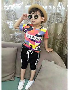 Drenge Indstiller Farveblok,Bomuld Sommer Kortærmet Tøjsæt