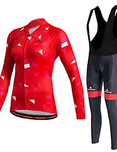 Miloto שרוול ארוך חולצת ג'רסי וטייץ ביב לרכיבה לנשים אופניים סוודר מעילי פליז בגדים צמודים טייץ רכיבה על אופניים מדים בסטיםשמור על חום