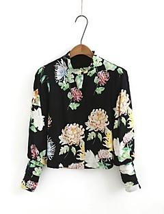 Feminino Jaqueta Casual Moda de Rua Outono Primavera,Estampado Padrão Others Pêlo de Cordeiro Colarinho de Camisa Manga Longa