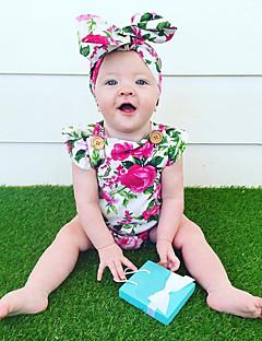 Baby Einzelteil Modisch Vintage Druck Baumwolle Sommer Ärmellos