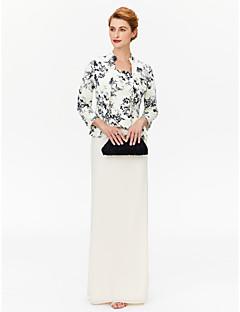 Szűk szabású Szögletes Földig érő Sifon Örömanya ruha - Minta által LAN TING BRIDE®