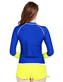 SBART 女性用 夫婦 ウェットスーツ エラステイン ナイロン 潜水服 長袖 ダイビングスーツ トップス-ウォータースポーツ ダイビング サーフィン オールシーズン プリント