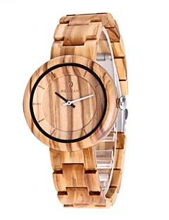 男性用 腕時計 ウッド 日本産 クォーツ 木製 ウッド バンド ラグジュアリー エレガント腕時計 ベージュ
