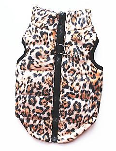 Gato Cachorro Casacos Camiseta Moletom Colete Roupas para Cães Festa Casual Mantenha Quente Esportes Leopardo Leopardo