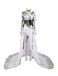 Inspired by Final Fantasy Cosplay Video Game Cosplay Costumes Cosplay Suits Solid Color Long Sleeves Dresses Waist Accessory