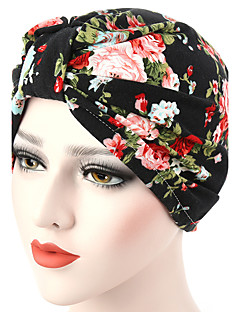 Women's Fashion Floral Floppy Bucket  Turban Hat & Cap