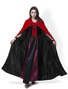 Troldmand/Heks Vampyr Cosplay Jakke Cosplay Kostumer Kappe Hekseskaft Halloweentillbehör Festkostume Maskerade Festival/Højtider