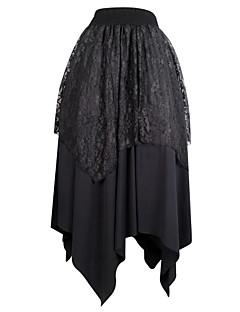 Damen Vintage Einfach Ausgehen Lässig/Alltäglich Asymmetrisch Röcke Schaukel,Blumig einfarbig Ganzjährig