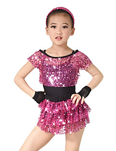 Dječji - Outfits - za Moderni plesovi / Jazz / Seksi blagdanski kostimi / Kostimi za navijačice (Fuksija ,Polyester / Šljokičasti /