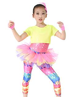 Dječji-Outfits- zaSeksi blagdanski kostimi(Višebojne,Spandex / Polyester / Šljokičasti,Kaskadno talasati)