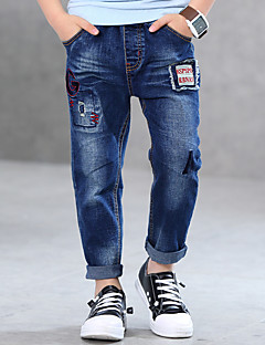 Kids Full Pants Boys Cotton Blue Jeans (3 4 6 8 10 12 Years Old)