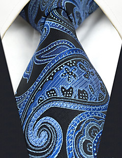CXL23 For Men Neckties New Extra Long 63 Blue Black Paisley 100% Silk Handmade Business Casual Fashion
