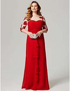 Omotač / stupac krovište dugačak haljina s tapeciranim tapecima ts couture®