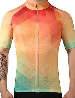 FUALRNY® Wielrenshirt Heren Korte mouw Fietsen Shirt Sneldrogend Ademend 100% Polyester Zomer Bergracen Wegwielrennen Recreatiewielrennen