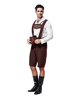 Cosplay Kostuums Feestkostuum Oktoberfest Ober/Serveerster Festival/Feestdagen Halloweenkostuums Koffie Patchwork Top Broeken Hoed