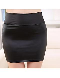 Damen Arbeit Ausgehen Lässig/Alltäglich Mini Röcke Bodycon einfarbig Frühling Sommer