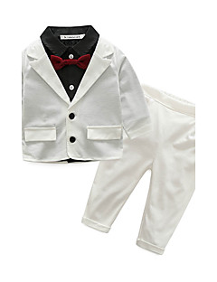 Boys' Solid Sets,Cotton Spring Fall Long Sleeve Clothing Set