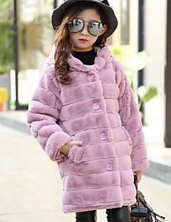 Genç Kız Pamuklu Solid Kış Uzun Kol Şişme ve Pamuk Pedli