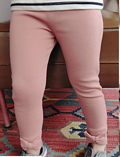 Girls' Solid Pants-Cotton Spring