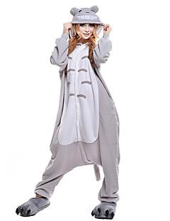 Kigurumi Pijamalar Kedi Totoro Strenç Dansçı/Tulum Festival / Tatil Hayvan Sleepwear Halloween Gri Kırk Yama Mercan Kumaş Kigurumi İçin