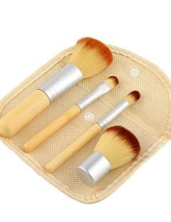 4PCS Conjuntos de pincel Pincel para Blush Pincel para Sombra Pincel de Sombrancelha Cílio Escova Pêlo Sintético Faia