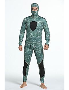 男性用 3mm フルウェットスーツ 人間工学デザイン サンスクリーン 閉じるボディ ナイロン 潜水服 長袖 ダイビングスーツ-潜水 サーフィン オールシーズン カモフラージュ
